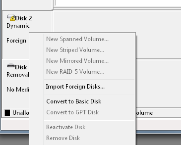 Import a Foreign Disk