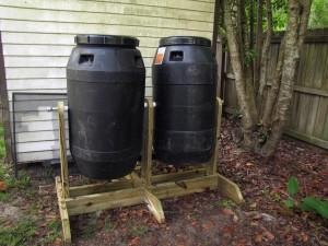 dual compost tumblers