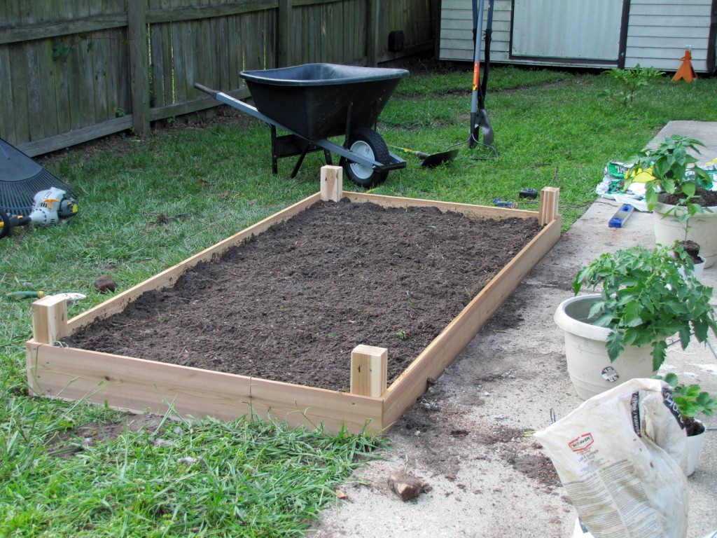 Removed soil replaced with added compost